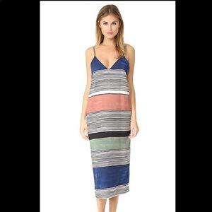 NWT   Mara Hoffman Georgia Striped Tank Dress